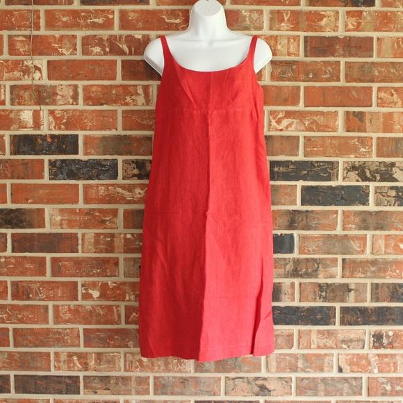 Agnès B. Red Sheath Linen Dress